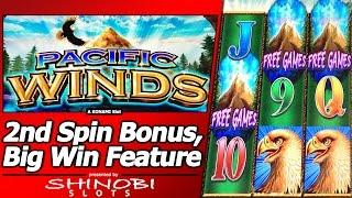 Pacific Winds Slot- First Look, 2nd Spin Bonus and Rapid Revolver Big Win!