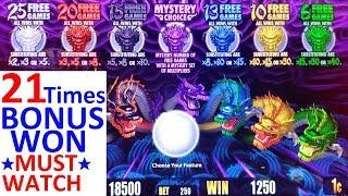 5 Dragons Rapid Slot Machine MEGA BIG WIN   •FANTASTIC SESSION• 21 Times BONUS Won  NON STOP BONUSES