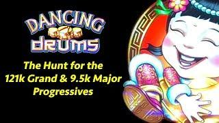 The Hunt for the 121k Grand & 9.5k Major • Dancing Drums ••• The Slot Cats •
