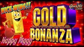 Aristocrat - Bonanza Gold Piggy Bank Slot Bonuses NICE WINS
