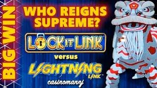 LOCK IT LINK vs LIGHTNING LINK **BIG WIN** WHO REIGNS SUPREME? - Slot Machine Bonus