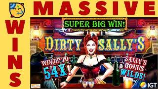 I COULDN'T BELIEVE IT!  DIRTY SALLY'S SLOT MACHINE POKIE!  1st SPIN MAX BET BONUS + BEAST + MORE!