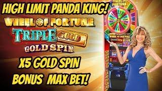 5X GOLD SPIN & HIGH LIMIT PANDA KING BONUSES