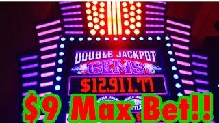 Double Jackpot Gems, High Limit Slot, $9 Max Bet, Live Play, By Multimedia Games