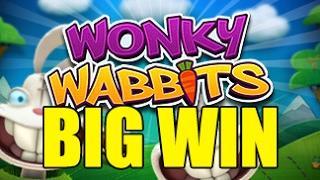 Online slots HUGE WIN STREAK 1.5 euro bet - Wonky Wabbits BIG WIN STREAK