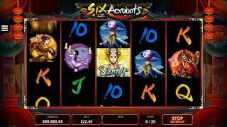 Six Acrobats Slot Features & Game Play - by Microgaming