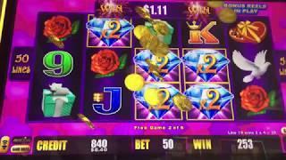 Lightning Link Heart Throb Slot Machine Free Spins Bonus - 3 Clips