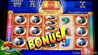 HUGE WIN !!! BONUS Quest for Riches 2c Konami Slot