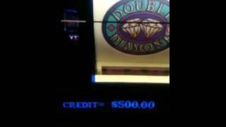 ** MASSIVE JACKPOT!!! $500.00 A PULL!! ON A SINGLE BET -Double Diamond