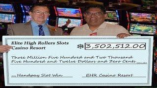 •$3.5 Million Dollar Jackpot Handpay Vegas Casino High Roller Video Slot Machine, Aristocrat, WMS •