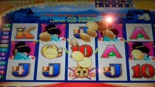 VIP All Stars Slot Machine - Geisha + Sun & Moon Bonus Features - Free Spins with Wilds - BIG WIN