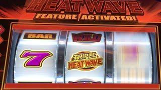 HEAT WAVE •BONUSES & LIVE PLAY•  Slot Machine at Harrahs SoCal