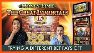 NEW Money Link Slot We Stopped Playing ENHANCED MONEY LINK BET and WON NONSTOP