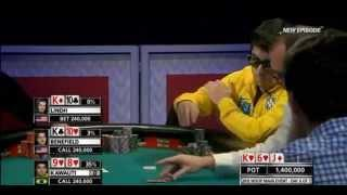 A strange poker play!