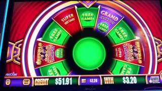 RIGGED Wonder 4 Slot play - Timber Wolf Deluxe & Buffalo Gold - All Bonuses 5/30/17