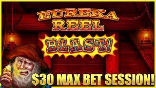 ⋆ Slots ⋆HIGH LIMIT SUPERLOCK Lock It Link Eureka Reel Blast ⋆ Slots ⋆$30 MAX BET SPINS Slot Machine