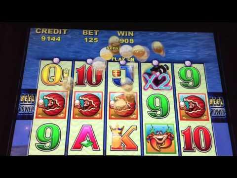GREAT SLOT WIN *ARISTOCRAT WHALES of CASH* Clams Line Hit WOW!!