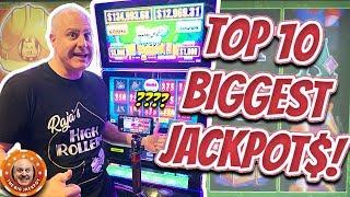 •TOP 10 BIGGEST JACKPOTS OF MY LIFE! •October 2019 COMPILATION