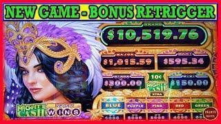• NEW • Mighty Cash Vegas Wins Slot Machine | Bonus Retrigger | Live Slots Play w/ Dejavu Slots