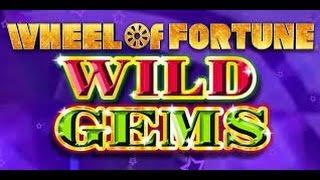 Wheel of Fortune Wild Gems - IGT Slot Machine Bonus Win - Max Bet
