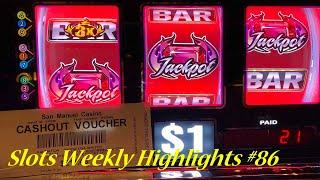 Slots Weekly Highlights #86 For you who are busy•Slots Winner @ San Manuel Casino, 赤富士スロット, カジノゲーム