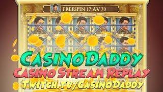 Casino slots from Live stream from 17th aug with big win (casino games and Online slot) vod part 1