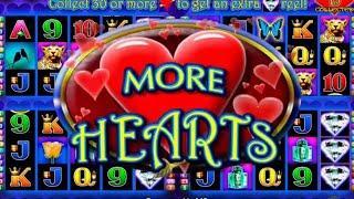 FINALLY! WE GOT THE RANDOM BONUS FEATURE • $8 MAX BET • MORE MORE HEARTS • LIVE SLOTS PLAY