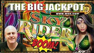 24 FREE GAME$ • SKY RIDER JACKPOT HANDPAY • $100 BET