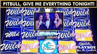 GIVE ME EVERYTHING TONIGHT! Winning w/ Pitbull Playboy Don't Stop The Party Slot Machine