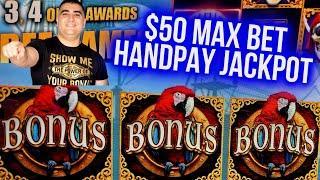$50 Max Bet HANDPAY JACKPOT On Cash Falls Slot | Las Vegas Casino JACKPOT | SE-1| EP-9
