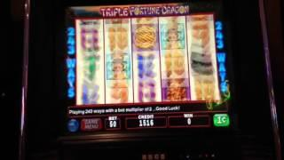 Triple Fortune Dragon Slot Machine Live Play No Bonus