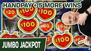 ⋆ Slots ⋆ HUGE HANDPAY on Dollar Storm ⋆ Slots ⋆ Five Additional Wins, Playing $50 Per Spin
