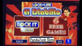 Why just settle for a triple up? Lock it Link, El Diablito⋆ Slots ⋆