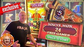 TOO MANY FREE GAMES! •Exclusive Premiere Slot •Fortune Ruler Da Shen Doa