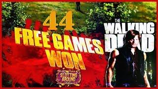 The Walking Dead Slot machine 44 free games plus jackpot feature!