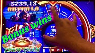 •BONUS WINS•Wonder 4 Jackpots/Buffalo Deluxe (RETRIGGERS), Zhen Chan Slot Machine! LIVE PLAY!