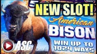 •NEW SLOT!• AMERICAN BISON (Aristocrat) w/ JACKPOT WHEELS Slot Machine Bonus