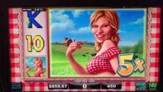 Farmers Daughter Bonus slot play at Casino Royal