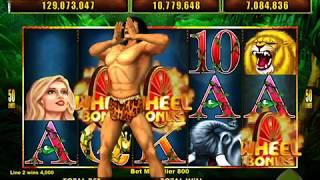 TARZAN THE APE MAN Video Slot Casino Game with a WHEEL AND FREE SPIN BONUS