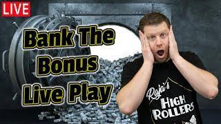 $10,000 Bank The Bonus Live Slot Play from Las Vegas!
