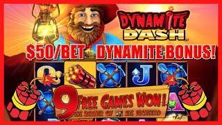 HIGH LIMIT All Aboard ⋆ Slots ⋆ Dynamite Dash $50 MAX BET Bonus Round Slot Machine Casino