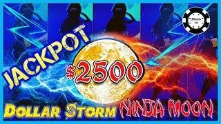 •️HIGH LIMIT Dollar Storm Ninja Moon HANDPAY JACKPOTS $50 SPINS •️(4) BONUS ROUNDS Slot Machine