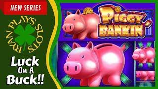• Piggy Bankin' Slot Machine | Luck On A Buck Series | Ryan Plays Slots