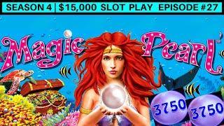 Lightning Link Magic Pearl Slot Machine BIG WIN- GREAT SESSION   Season 4   Episode #27