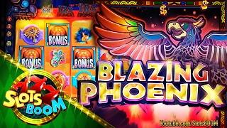 Blazing Phoenix Bonuses Re-Trigger BIG WIN !!! 5c WMS Video Slot