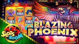 Blazing Phoenix Bonuses Re-Trigger BIG WIN !!! 5c WMS Video Slot