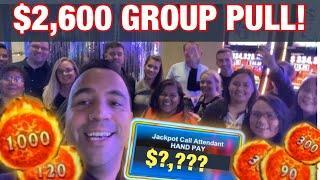 WINNING $2600 Group Slot Pull!!   Piggy Bankin' •   Fire Link •   Buffalo   •••