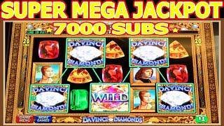 • MEGA JACKPOT HANDPAY 7000 SUBSCRIBERS SPECIAL • • DAVINCI DIAMOND HIGH LIMIT SLOT MACHINE •