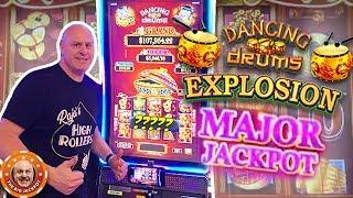 •I HIT THE MAJOR! •Dancing Drums Explosion JACKPOT! •