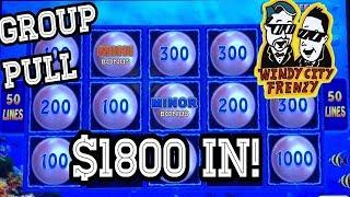 •$1800 IN•HIGH LIMIT GROUP PULL •LIGHTNING LINK• TRIPLE 777•FOUR WINDS CASINO!